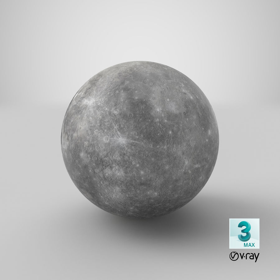 Mercury royalty-free 3d model - Preview no. 15