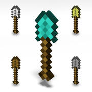 Minecraft Shovel 3d model