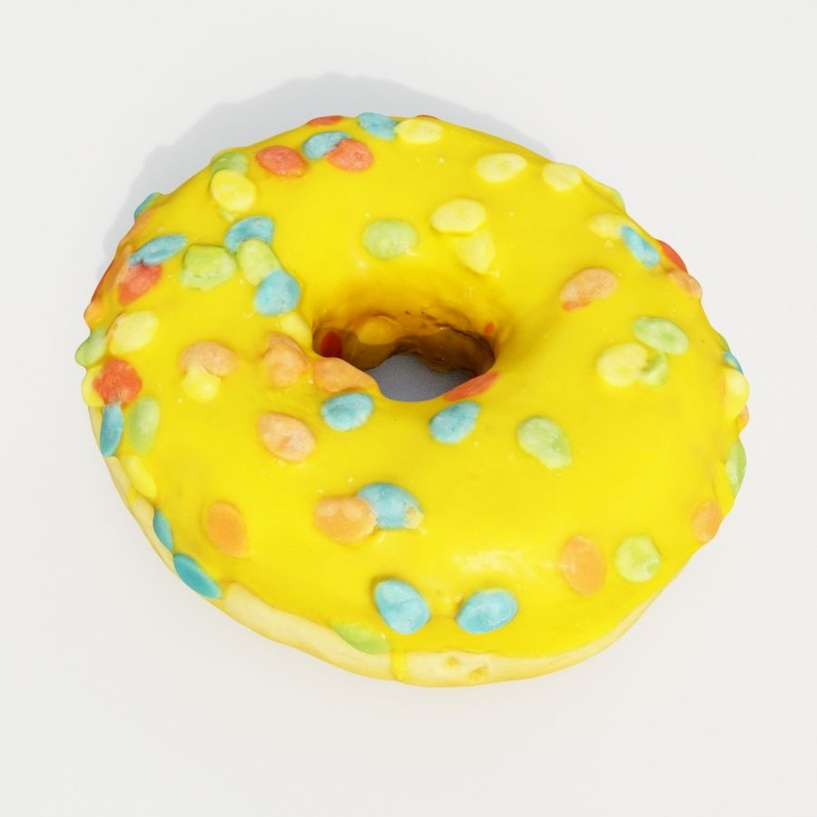 Donut 9 royalty-free 3d model - Preview no. 2