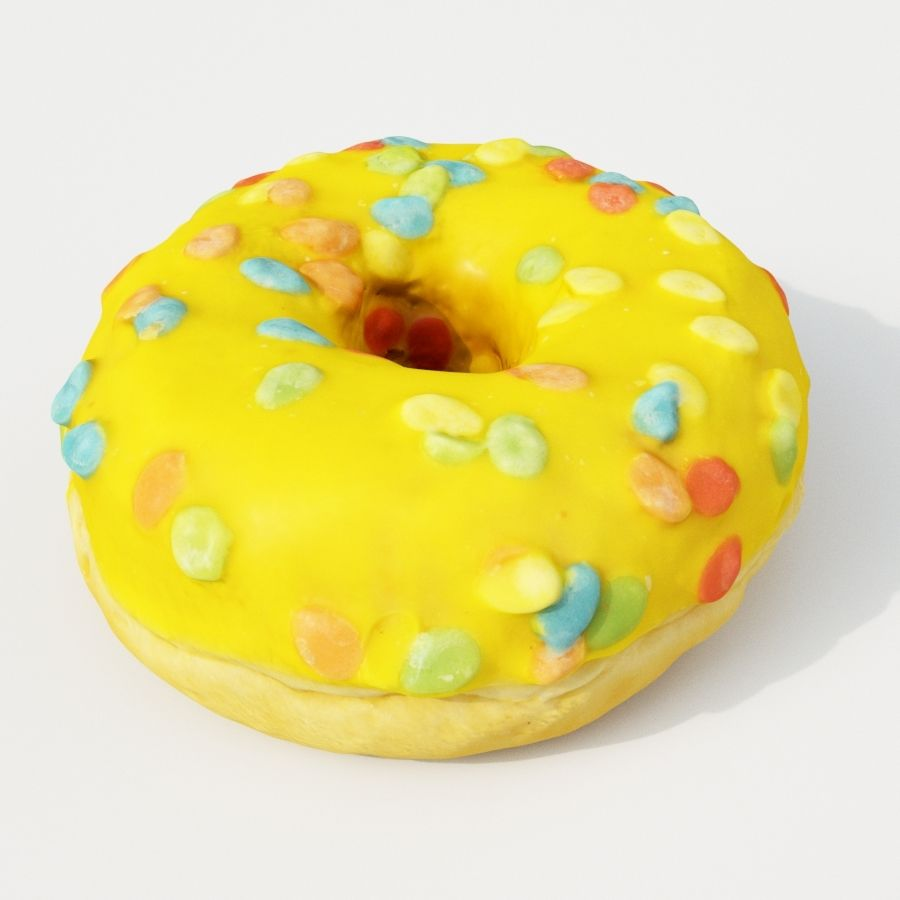 Donut 9 royalty-free 3d model - Preview no. 3