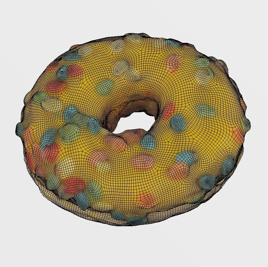 Donut 9 royalty-free 3d model - Preview no. 7