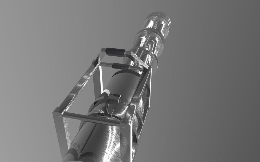 Minigun royalty-free 3d model - Preview no. 4