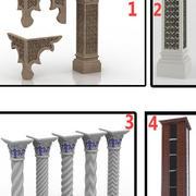 イスラム柱 3d model
