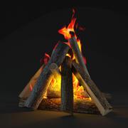 Ogień 1 3d model