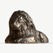 Lion en bronze 3d model
