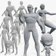 Base Meshes Character Starter Kit + Rig 3d model