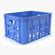 Bottles Crate Plastic 3d model