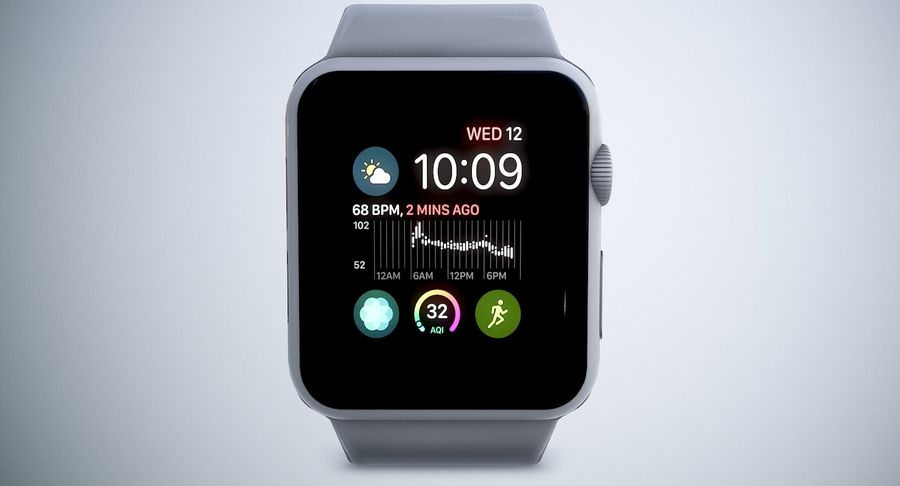 Apple Watch royalty-free 3d model - Preview no. 6