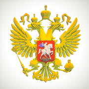 Escudo de armas ruso lable sign logo lowpoly modelo 3d