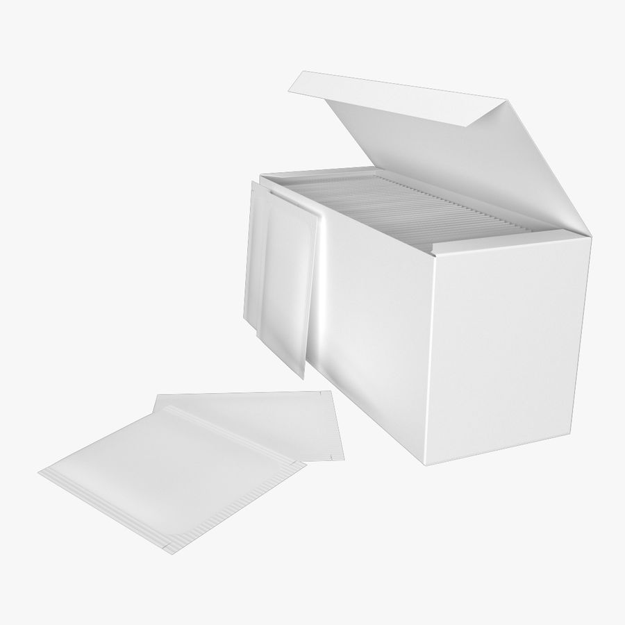 Packaging Tea royalty-free 3d model - Preview no. 4