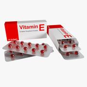 Pílula de bolha vitamina E 3d model