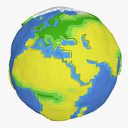 Terre basse poly 3d model