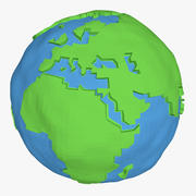 Low Poly Earth Simple modelo 3d