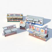 Fast Food Mağazaları 3d model