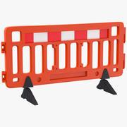 Barricada de tráfego 3d model