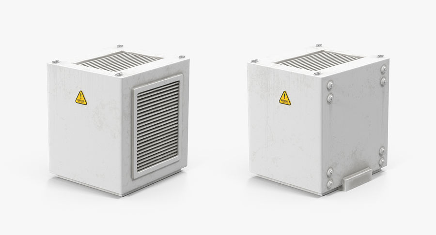 Industrial Rooftop AC Unit royalty-free 3d model - Preview no. 4
