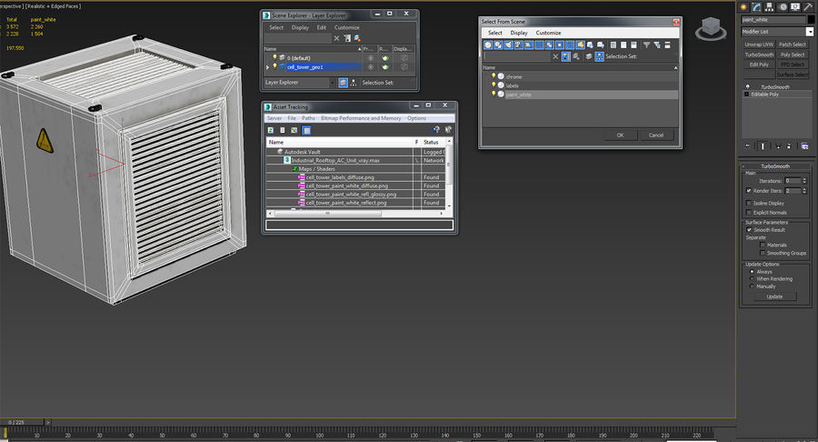 Industrial Rooftop AC Unit royalty-free 3d model - Preview no. 13