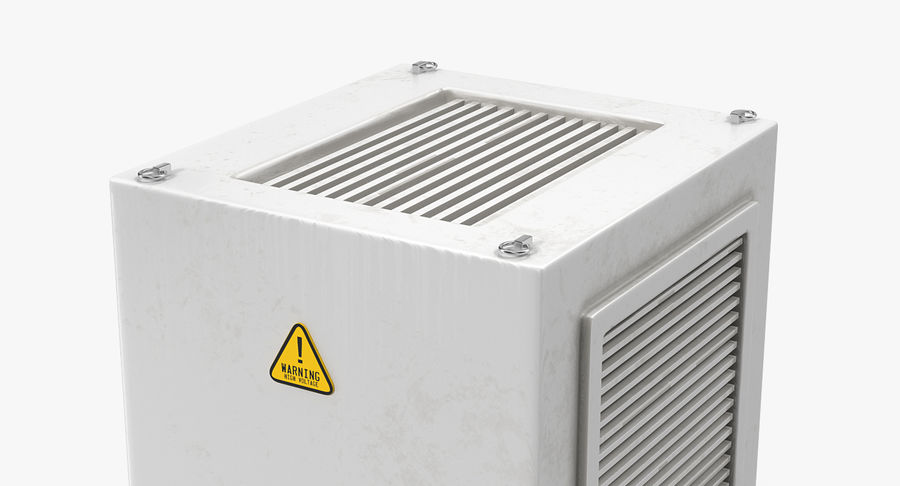 Industrial Rooftop AC Unit royalty-free 3d model - Preview no. 6