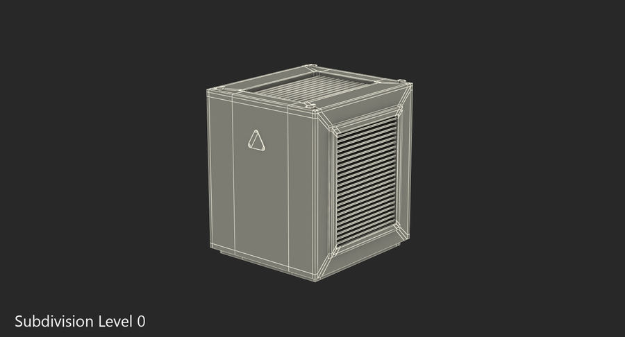 Industrial Rooftop AC Unit royalty-free 3d model - Preview no. 7