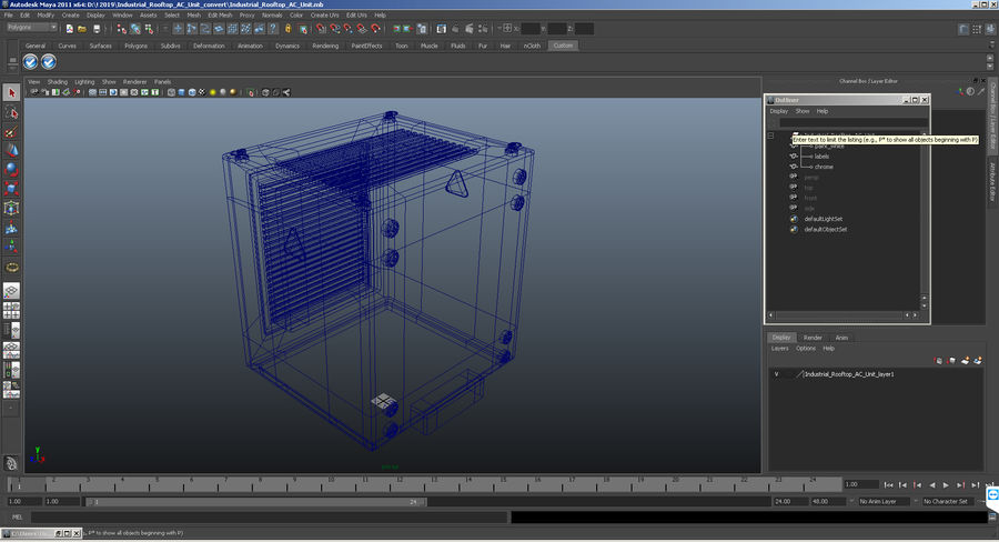 Industrial Rooftop AC Unit royalty-free 3d model - Preview no. 11
