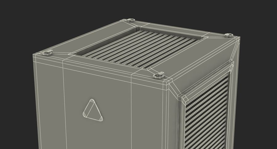 Industrial Rooftop AC Unit royalty-free 3d model - Preview no. 15