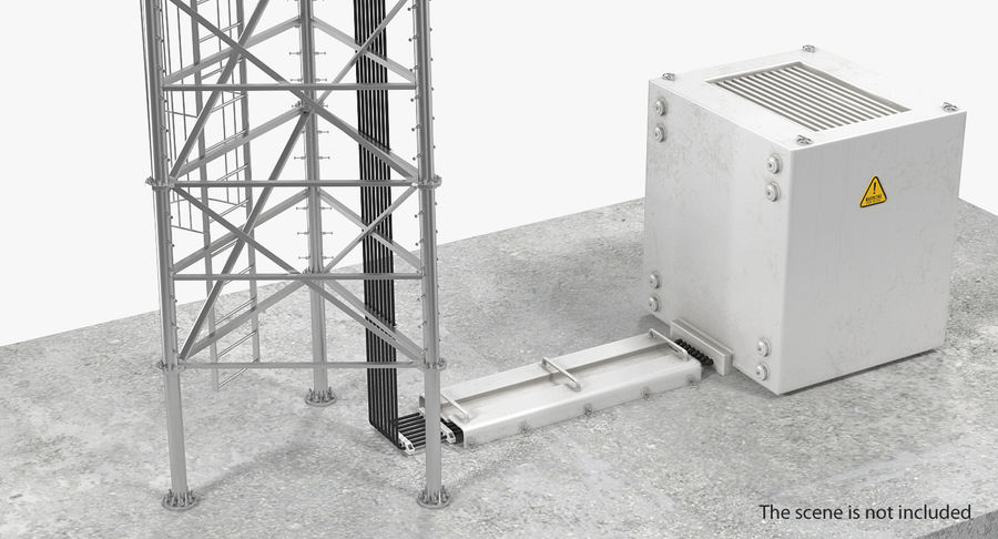 Industrial Rooftop AC Unit royalty-free 3d model - Preview no. 3