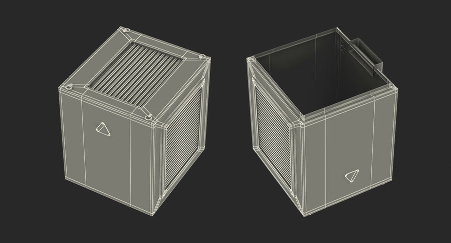 Industrial Rooftop AC Unit royalty-free 3d model - Preview no. 16