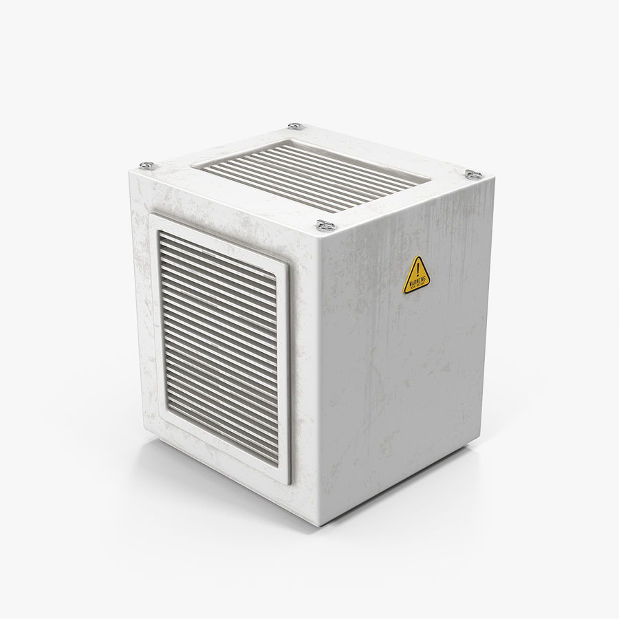 Industrial Rooftop AC Unit royalty-free 3d model - Preview no. 1