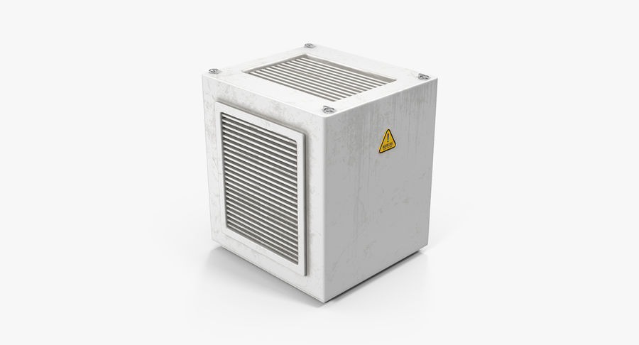 Industrial Rooftop AC Unit royalty-free 3d model - Preview no. 2