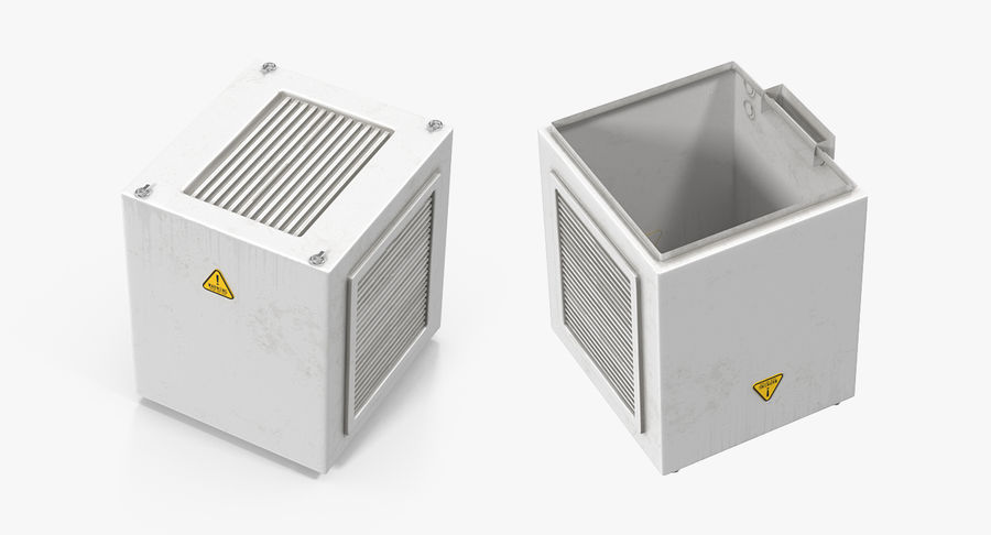 Industrial Rooftop AC Unit royalty-free 3d model - Preview no. 5