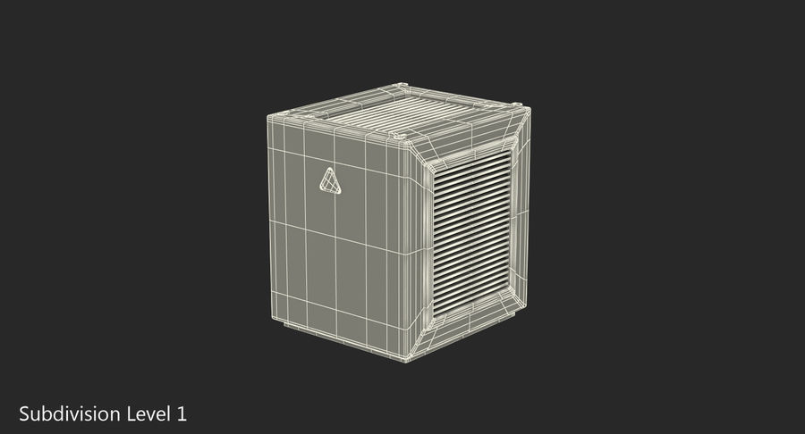 Industrial Rooftop AC Unit royalty-free 3d model - Preview no. 8