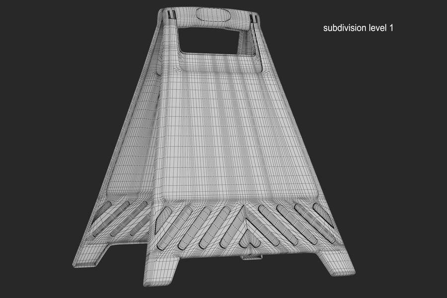 Cuidado do sinal de chão royalty-free 3d model - Preview no. 9