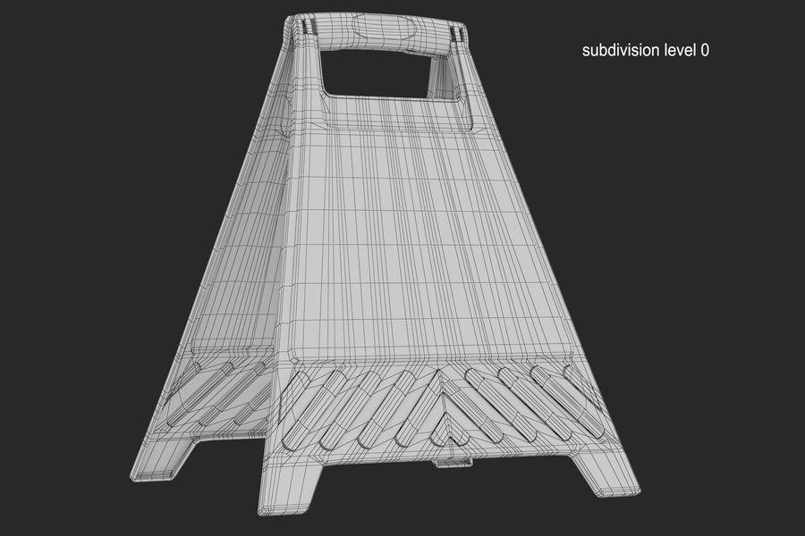 Cuidado do sinal de chão royalty-free 3d model - Preview no. 8