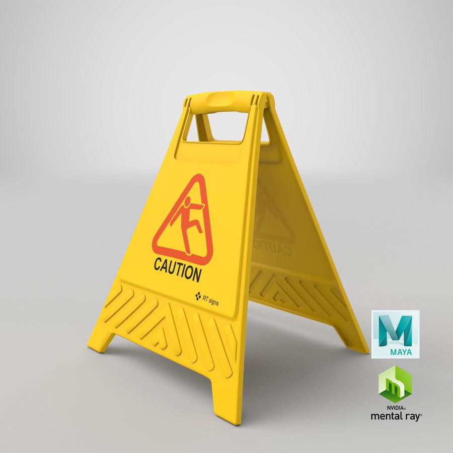 Cuidado do sinal de chão royalty-free 3d model - Preview no. 14