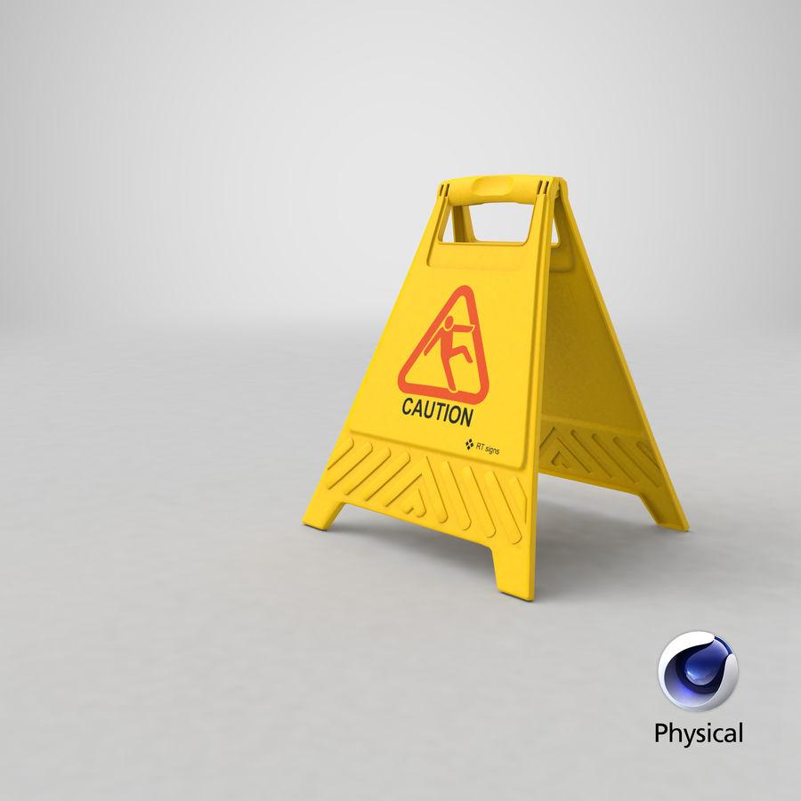 Cuidado do sinal de chão royalty-free 3d model - Preview no. 17