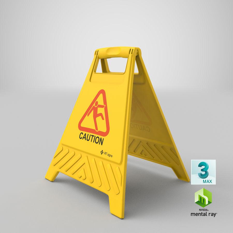 Cuidado do sinal de chão royalty-free 3d model - Preview no. 16