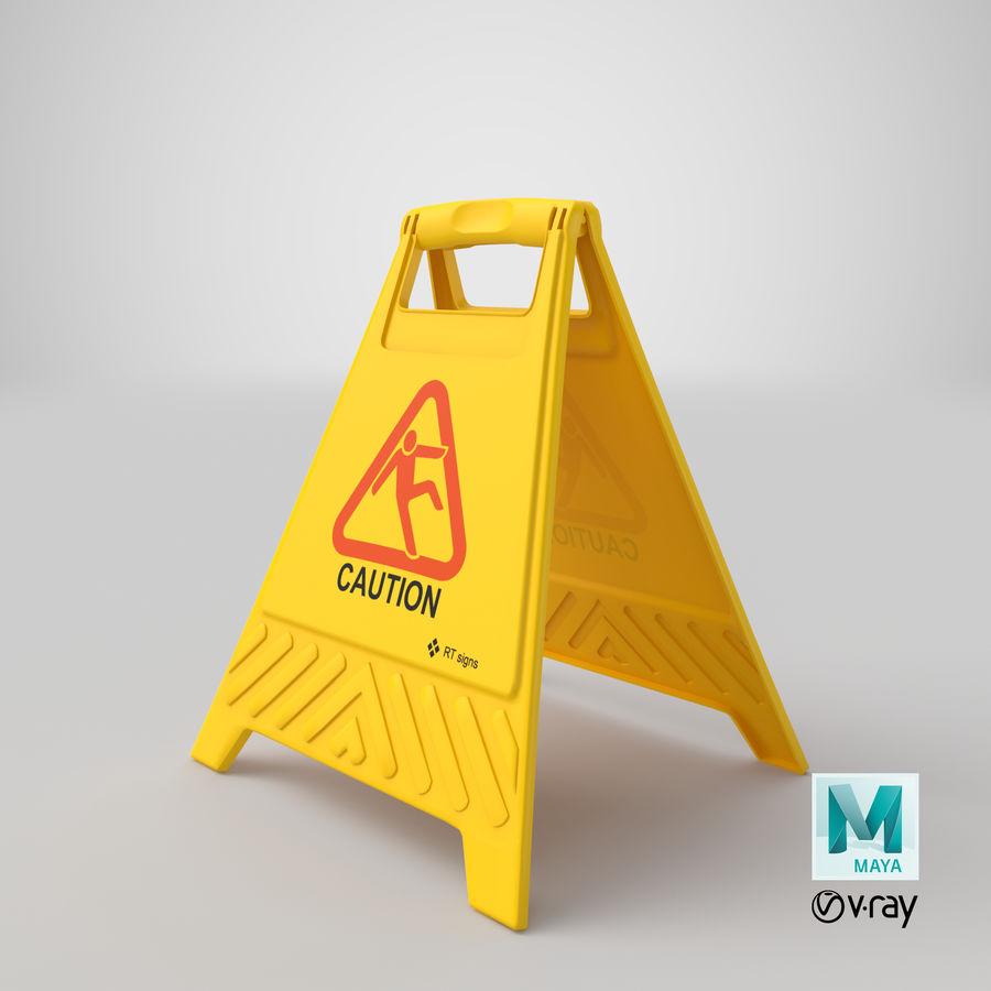 Cuidado do sinal de chão royalty-free 3d model - Preview no. 13