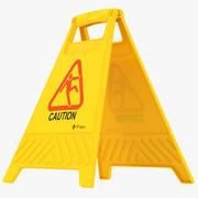 Cuidado do sinal de chão 3d model