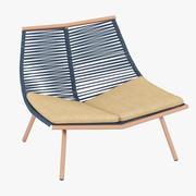 Roda Laze Lounge Chair 3d model