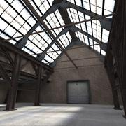 Warehouse with Y-pillars 3d model