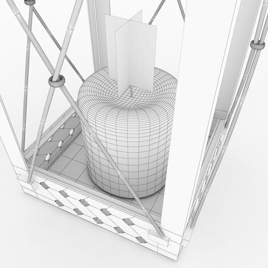 Lantern royalty-free 3d model - Preview no. 14