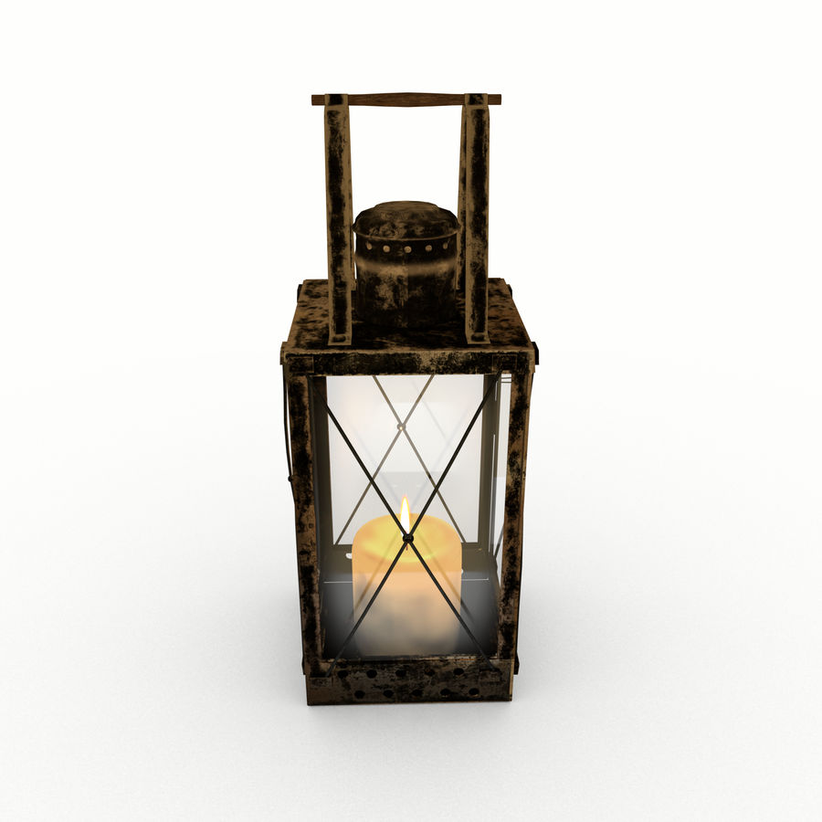 Lantern royalty-free 3d model - Preview no. 3