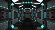 Science-Fiction-Korridor 3d model