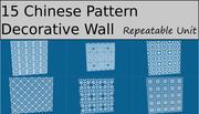 중국 장식 패턴 컬렉션 3d model