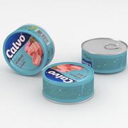 Food Can Calvo Bistecca di tonno in acqua 160g 3d model