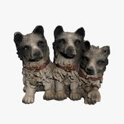 Posąg psa 3d model