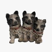 Hond standbeeld 3d model