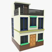litet hus med två våningar 3d model