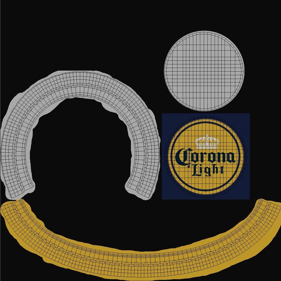 Lekkie piwo Corona royalty-free 3d model - Preview no. 19