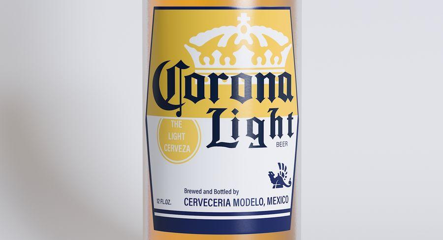 Lekkie piwo Corona royalty-free 3d model - Preview no. 3